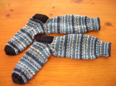 Opal yarn handknitted socks