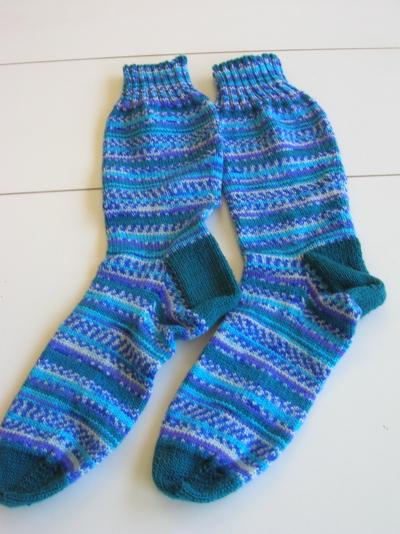 Jade/blue/purple socks