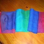 rainbow scarf - finished