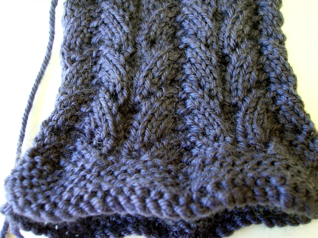 Lace socks in Nundle's Retro yarn