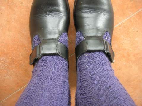 Hand knitted socks. Pattern: Socks for Veronik; Yarn: Nundle 4ply Retro