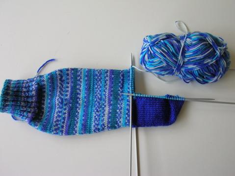 Patonlye handknitted socks