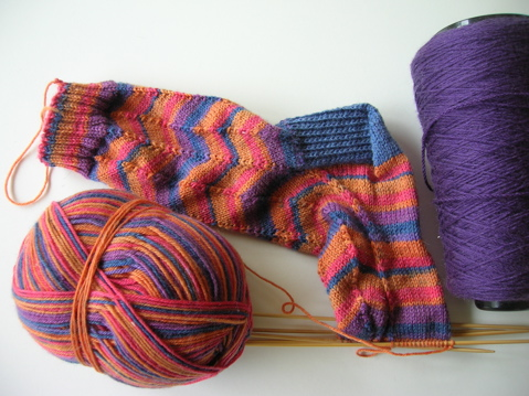 jaywalker socks progress