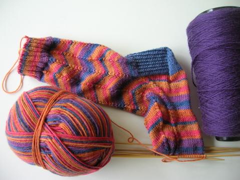 jaywalker socks progress