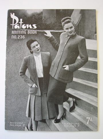 Patons vintage knitting pattern book - no 236 (Jackets)