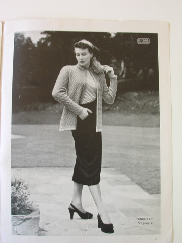 'Knocker' from Patons vintage knitting pattern book - no 236 (Jackets)