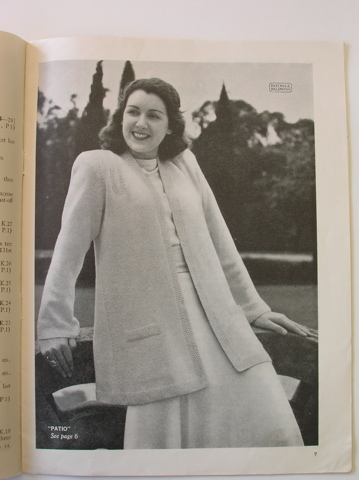 'Patio' from Patons vintage knitting pattern book - no 236 (Jackets)