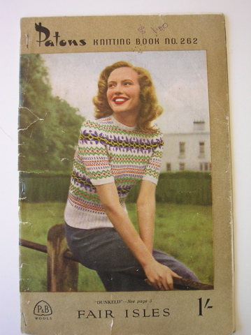 Patons vintage knitting pattern book - fairisle