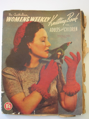 Australian Womens Weekly vintage knitting pattern book
