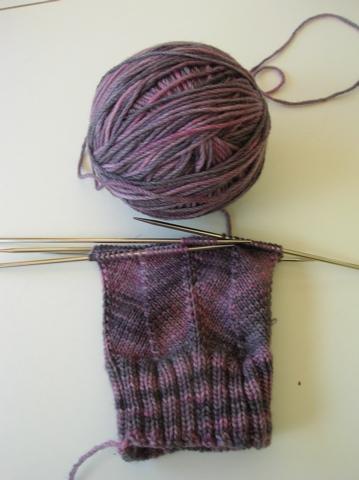 Jaywalker sock, The Knittery merino/cashmereyarn