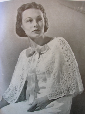 Lacy capelet vintage knitting pattern