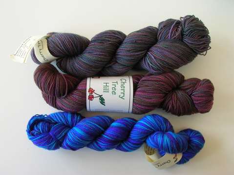 Cherry Tree Hill Supersock yarns