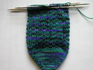 Slip-stitch socks