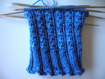 Pattern: Conwy by Nancy Bush Yarn: The Knittery Chubby merino