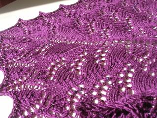 Pattern: Swallowtail Shawl Yarn: Morris Empire 4ply