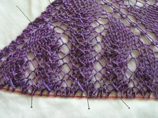Pattern: Venezia Lace Shawl Yarn: Handmaiden Sea Silk