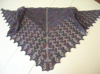 Pattern: Ishbel by Ysolda Teague. Yarn: Cherry Tree Hill Supersock