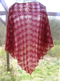 Pattern: Shetland Triangle Yarn: Bendigo Colonial 5 ply