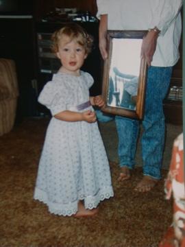 Lauren in her Christmas dress