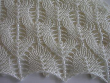 Shetland Triangle, bead detail