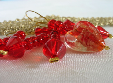 Red & gold stitch markers