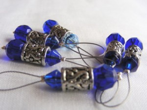 Knitting stitch markers - Royal Silver