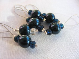 Knitting stitch markers - Indigo Sky