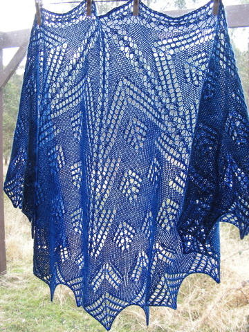 Knitted shawl - Christmas Lights