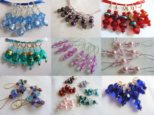 A selection of stitch markers at Yarnosophy