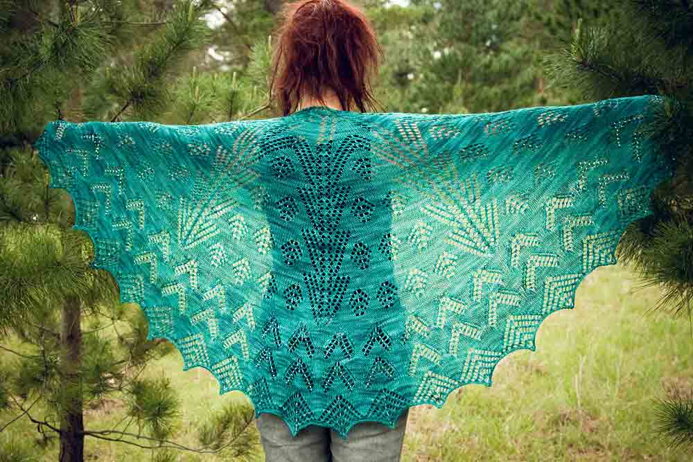 Christmas Lights Shawl - medium size