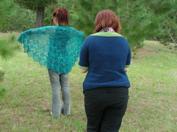 Photographing Christmas Lights shawl