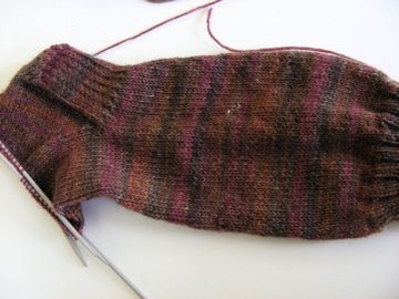 Hand knitted sock in progress