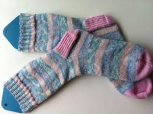 Faux-fair-isle socks