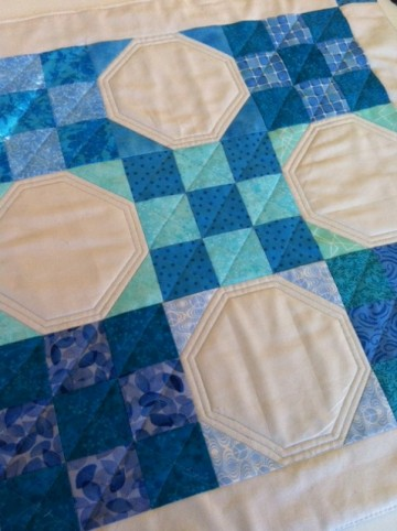 Quilted 'table topper' - practice quilting.