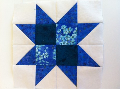 Patchwork star block