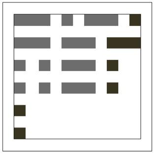 Morse Code Mug Rug diagram