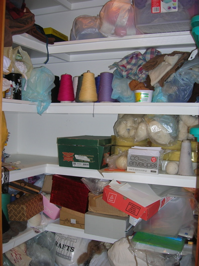 Yarn and fibre stash 1