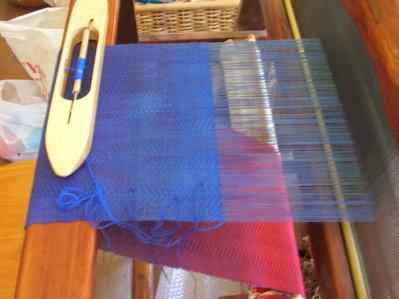 blue part of rainbow scarf