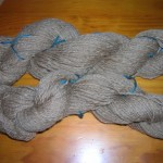 Brown handspun yarn