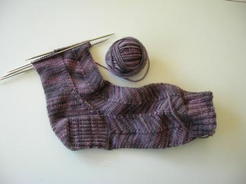 Jaywalker sock, The Knittery merino/cashmere yarn