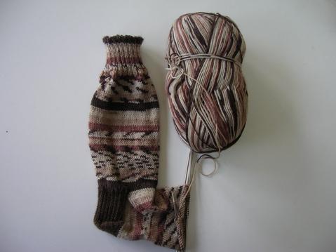 Basic socks in Moda Vera self=patterning yarn