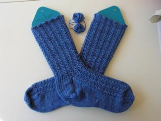 Pattern: Conwy by Nancy Bush. Yarn: The Knittery Chubby Merino