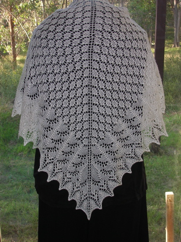 Pattern: Swallowtail Shawl by Evelyn Clark Yarn: The Knittery Merino Silk Lace