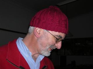 Pattern: Binary Cable Hat. Yarn: Bendigo Luxury 10ply