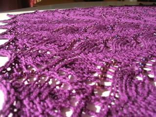 Pattern: Swallowtail Shawl. Yarn: Morris Empire 4ply