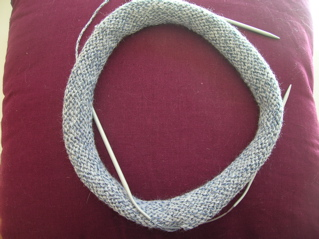 Yarn: Bendigo Classic 8ply. Pattern: Cleckheaton rolled brim hat