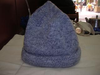 Pattern: Cleckheaton rolled brim hat Yarn: Bendigo Classic 8ply
