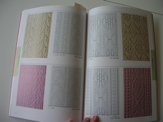 Sample page - photo plus chart for each pattern