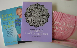 Lace books - and Top-Down sweaters