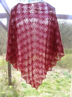 Pattern: Shetland Triangle Yarn: Bendigo Colonial 5 ply